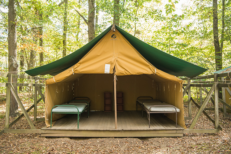 View platform tents & Camp Skymeadow | Girl Scouts Western Pennsylvania